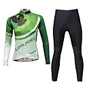 cheap Cycling Jerseys-KEIYUEM Women's Long Sleeve Cycling Jersey with Tights Stripes Bike Tights Clothing Suit Waterproof Windproof Breathable 3D Pad Quick Dry Winter Sports Stripes Clothing Apparel / Stretchy