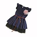 זול שמלות לבנות-שמלה כותנה קיץ ללא שרוולים מנוקד הילדה של נקודה כחול נייבי