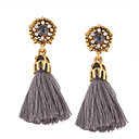cheap Earrings-Women's Tassel Drop Earrings - Personalized, Tassel, Bohemian Black / Gray / Red For Wedding / Anniversary / Housewarming