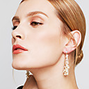 cheap Ring Pillows-Women's Long Drop Earrings - Pearl, Imitation Pearl, Rhinestone European Gold For Party