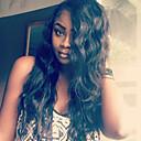 billige Hårtilbehør-Ekte hår Blonde Forside Parykk Krøllet 130% tetthet 100 % håndknyttet Afroamerikansk parykk Naturlig hårlinje Kort Medium Lang Dame