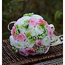 olcso Esküvői virágok-Esküvői virágok Csokrok Esküvő Organza Szatén Kb. 28 cm