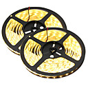 cheap Lamp Bases & Connectors-HKV 10m Flexible LED Light Strips 300 LEDs 5630 SMD Warm White / White Waterproof / Cuttable / Linkable 12 V 2pcs / IP65 / Self-adhesive