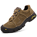 cheap Men's Boots-Men's Nappa Leather Fall / Winter Comfort Athletic Shoes Hiking Shoes Coffee / Khaki