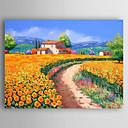 baratos Pinturas Paisagens-Pintura a Óleo Pintados à mão - Paisagem Abstracto Tela de pintura
