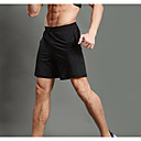 cheap Running Shirts, Pants & Shorts-WOSAWE Men's Running Shorts / Running Split Shorts - Black Sports Shorts Fitness, Gym, Workout Activewear Fitness, Running & Yoga, Quick Dry, Breathable Stretchy