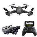 cheap RC Drone Quadcopters & Multi-Rotors-RC Drone VISUO XS809W RTF 4CH 6 Axis 2.4G With HD Camera 0.3MP 480P RC Quadcopter One Key To Auto-Return / Headless Mode / 360°Rolling RC