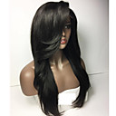 cheap Human Hair Wigs-Human Hair Glueless Lace Front / Lace Front Wig Straight Wig 150% Natural Hairline Women's Short / Medium Length / Long Human Hair Lace Wig