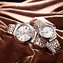 cheap Clutches & Evening Bags-SINOBI Couple's Quartz Wrist Watch Japanese Shock Resistant Stainless Steel Band Luxury Fashion Silver