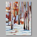 baratos Prateleiras e Suportes-Pintura a Óleo Pintados à mão - Abstrato Abstracto Moderno / Contemporâneo Tela de pintura