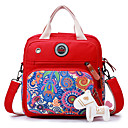 cheap Shoulder Bags-Women's Bags Canvas Shoulder Bag for Casual Black / Red