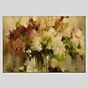 cheap Floral/Botanical Paintings-Oil Painting Hand Painted - Abstract Abstract Canvas