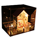 cheap Doll Houses-Model Building Kit DIY House Natural Wood Classic Pieces Unisex Gift