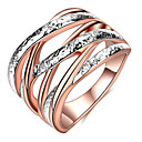 cheap Jewelry Sets-Women's Ring Settings / Band Ring / Ring - Friends Personalized, Luxury, Unique Design 5 / 6 / 7 Rose Gold For Christmas / Christmas Gifts / Wedding / Party / Special Occasion / Anniversary