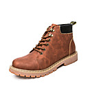 cheap Men's Boots-Men's Shoes Leatherette Fall / Winter Comfort Boots Black / Coffee / Brown