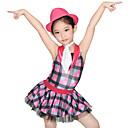 levne Boty na moderní tance-Dětské taneční kostýmy Šaty Dámské Výkon Spandex / Tyl / Flitry Vrstvy / Volány / Flitry Bez rukávů Přírodní Šaty / Kraťasy / Klobouk / Kostýmy pro roztleskávačky / Moderní tanec / Jazz
