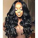 cheap Human Hair Wigs-Human Hair Glueless Lace Front / Lace Front Wig Wavy Wig 130% Natural Hairline / African American Wig / 100% Hand Tied Women's Short / Medium Length / Long Human Hair Lace Wig