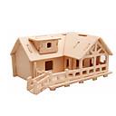 olcso Uzsonnás táskák-3D építőjátékok / Fejtörő / Wood Model Repülőgép / Népszerű épület / Ház DIY Fa Klasszikus Gyermek Uniszex Ajándék