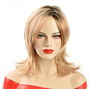 billige Syntetiske parykker uten hette-Syntetiske parykker Bølget Syntetisk hår Ombre-hår / Afroamerikansk parykk Blond Parykk Dame Medium Naturlig parykk Lokkløs