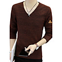 cheap Headsets & Headphones-BIENSI Outdoor Cotton for Spring Fall Shirts & Tops Clothing Apparel & Accessories / V Neck / Long Sleeve / Work / Club / Plus Size