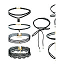 cheap Rings-Women's Geometrical Jewelry Set - Ladies, Dangling Style, Simple Style, Euramerican Include Pendant Necklace Black Choker Black For Outdoor clothing Street Traveling