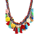 cheap Jewelry Sets-Women's Tassel Statement Necklace - Statement, Unique Design, Dangling Style Rainbow Necklace For Party, Birthday, Event / Party