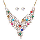 cheap Bracelets-Women's Jewelry Set - Heart Fashion Include Bridal Jewelry Sets White / Rainbow / Blue For Wedding Event / Party Dailywear