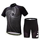 baratos Camisas & Shorts/Calças de Ciclismo-Homens Manga Curta Camisa com Shorts para Ciclismo Moto Conjuntos de Roupas Poliéster, Lycra Linhas / Ondas