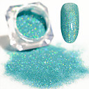 cheap Nail Glitter-2g blue holographic laser powder dust ultra thin shining nail art glitter powder