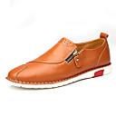 cheap Men's Slip-ons & Loafers-Men's Cowhide Summer / Fall Comfort Loafers & Slip-Ons Walking Shoes Black / Brown / Blue