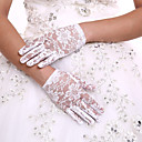 cheap LED Candle Lights-Lace Wrist Length Glove Flower Girl Gloves With Rhinestone