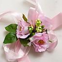 """baratos Bouquets de Noiva-Bouquets de Noiva Buquê de Pulso Casamento Tafetá Seda Cetim 1.97""""(Aprox.5cm)"""