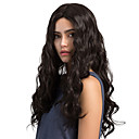 cheap Synthetic Capless Wigs-Synthetic Wig Wavy Synthetic Hair Middle Part Black Wig Women's Long Capless