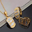 olcso Ékszer készlet-Női Ékszer szett - Arannyal bevont Vintage, Euramerican tartalmaz Menyasszonyi Ékszerek Arany Kompatibilitás Parti Party Hétköznapi