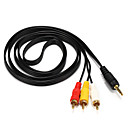 preiswerte Audio & Video-3RCA Kabel, 3RCA to 3RCA Kabel Male - Male 1.5M (5Ft)