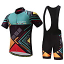 cheap Cycling Jersey & Shorts / Pants Sets-Men's Cycling Jersey with Bib Shorts - Green Bike Clothing Suit
