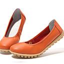 levne Dámské boty s plochou podrážkou-Dámské Boty Nappa Leather Léto / Podzim lehké Soles Bez podpatku Oranžová / Růžová / Khaki