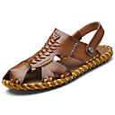 cheap USB Cables-Men's Light Soles Leather Summer Comfort Sandals Dark Brown / Khaki