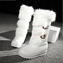 halpa Naisten saappaat-Naisten Kengät PU Talvi Comfort / Muotisaappaat Bootsit Valkoinen / Musta