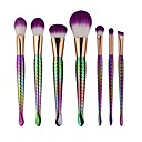 cheap Makeup Brush Sets-7pcs Makeup Brushes Professional Makeup Brush Set / Eyeshadow Brush / Foundation Brush Nylon Matte / Cute / Mermaid Aluminium