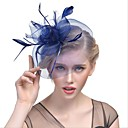 cheap Party Headpieces-Tulle Feather Fascinators 1 Wedding Special Occasion Anniversary New Baby Graduation Party / Evening Headpiece