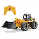 cheap RC Cars-RC Car HUINA 1520 6 Channel 2.4G Bulldozer 1:18 Brush Electric Remote Control / RC / Rechargeable / Electric