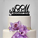 cheap Party Headpieces-Cake Topper Classic Theme / Wedding Funny & Reluctant / Monogram Plastic Wedding / Anniversary with 1 pcs Poly Bag