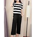 billige Vegglamper-Dame Skjorte Bukse Ensfarget Stripet