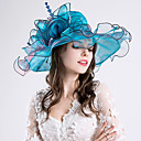 cheap Party Headpieces-Feather / Silk / Organza Fascinators / Hats with Flower 1pc Wedding / Special Occasion / Party / Evening Headpiece