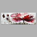 cheap LED Bi-pin Lights-Oil Painting Hand Painted - Floral / Botanical Artistic Canvas