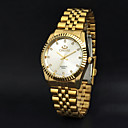 preiswerte Edelstahl-CHENXI® Herrn Armbanduhr Armbanduhren für den Alltag Edelstahl Band Charme Gold / Zwei jahr / Maxell SR626SW