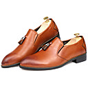 cheap Men's Slip-ons & Loafers-Men's Formal Shoes Synthetic Spring / Fall Loafers & Slip-Ons Black / Brown / Party & Evening