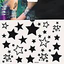 Недорогие Татуировки наклейки-1 pcs Временные тату Временные татуировки Тату с тотемом Одноразового использования / Безопасность Искусство тела Корпус / руки / рука / Стикер татуировки