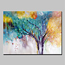 cheap Landscape Paintings-Oil Painting Hand Painted - Abstract Abstract Modern Canvas